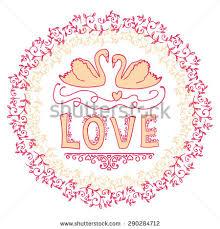 set wedding ornaments decorative elements stock vector 287786861