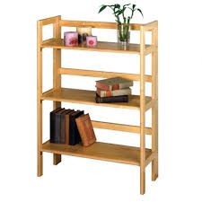 Solid Wood Bookcase Bookcase Folding Wooden Bookcase For Living Room Wooden Folding