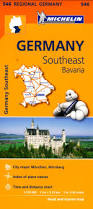 Bavaria Germany Map by 546 Michelin Regional Germany South East Bavaria Germany Maps