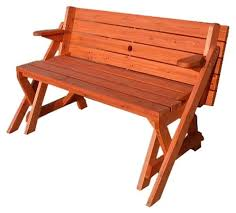 loon peak luxton convertible wood picnic table u0026 garden bench