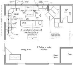 Commercial Kitchen Design Layout Kitchen Floor Plans With Island And Walk In Pantry Floor Home