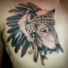 Wolf Indian Tattoos - amazing wolf idea best designs with meaning