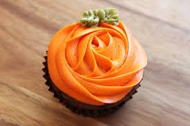 halloween cupcake orange rose pumpkin chocolate pumpkin
