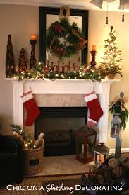 christmas mantel chic on a shoestring decorating rustic christmas mantel