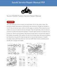 2007 suzuki rm z250 service manual download governor teaches ga