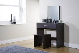 Small Mirrored Vanity Bedroom Furniture Sets Makeup Desk Dressing Table With Mirror