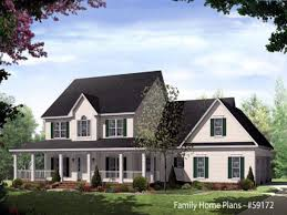 front porch house plans country
