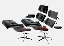 Iconic Chairs Of 20th Century Eames Lounge Chair And Ottoman Nero Leather Santos Palisander Wood