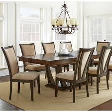 steve silver gabrielle 7 piece dining room set in medium walnut