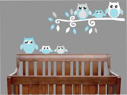 Wall Decor Stickers For Nursery Pink Owl Wall Decals Owl Stickers Owl Nursery Wall