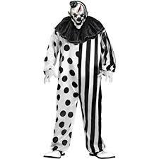 Clown Costumes Halloween Amazon Funworld Killer Clown Complete Black White Size