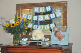 communion decorations for tables god bless banner for christening baptism communion party