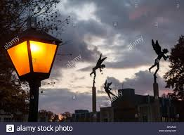 Angel Sculptures Angel Sculptures Kenyon College Campus Gambier Oh Stock Photo
