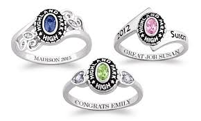 high school class ring companies 67 personalized women s class ring at limogés jewelry groupon