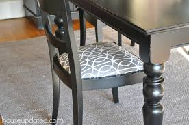 How To Reupholster Dining Room Chairs by Recovering Dining Chairs Dwell Studio Bella Porte Charcoal Fabric