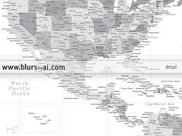 North Anerica Map Set Of Two Printable North America Maps Us Canada And Caribbean