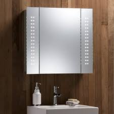 Bathroom Mirror Cabinet With Lights Enthralling Illuminated Bathroom Mirror Cabinet With Concealed