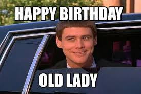 meme maker happy birthday old lady