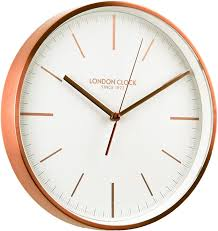 london clock since 1922 brushed copper metal case wall clock