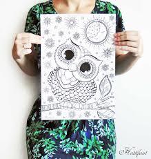 hattifant u0027s owl love coloring pages hattifant