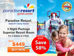 Family Packages 2016 72 Hour Sale Price Gold Coast Family Package