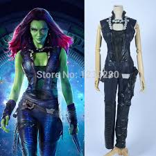 Gamora Costume Aliexpress Com Buy Gamora Cosplay Guardians Of The Galaxy 2015