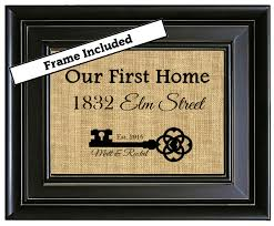 framed house warming gift new home housewarming gift our first