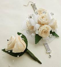 white corsages for prom infinite antique white corsage boutonniere bodas