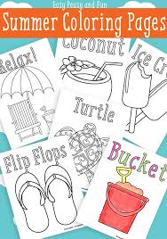 summer coloring pages free printable easy peasy fun