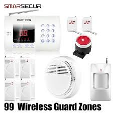 wireless pir home security burglar alarm system auto dialing dialer easy diy free with tracking