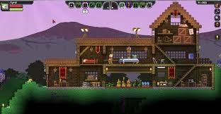 starbound houses second day of playing raided some dungeons and made a nice house
