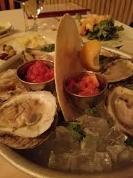 mignonette cuisine freshly shucked bluepoint oysters w cocktail sauce tasted