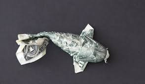 Origami Koi Fish Dollar Bill - time lapse origami turns a dollar bill into a koi fish