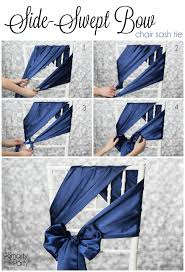 cheap sashes for chairs 20 creative diy wedding chair ideas with satin sash