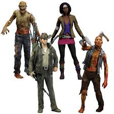 the walking dead series 1 comic figure set mcfarlane toys