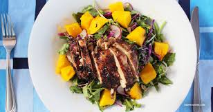 grille de cuisine salade de cresson poulet et mangue grillés kedny cuisine