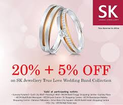 sk wedding band bank credit card promotion sk jewellery