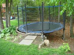 astounding trampoline small backyard pics ideas amys office