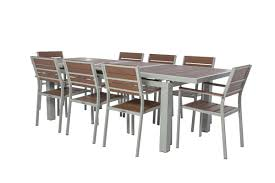 koro red 9 piece extendable dining set