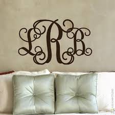 Monogrammed Home Decor Wall Decal Monogram Home Design Planning Fabulous Lovely Home