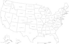 Black And White United States Map Black And White United States Map Black And White United States