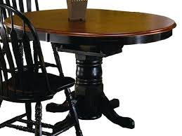 Two Tone Pedestal Dining Table Black Oval Pedestal Dining Table Pier 1 Cafe Siam Round Set Ikea