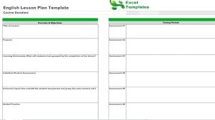 english lesson plan template free english lesson plans