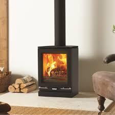 vogue small woodburning stove matt black