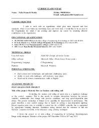 Best Career Objective In Resume For Freshers by M Tech Fresher Resume
