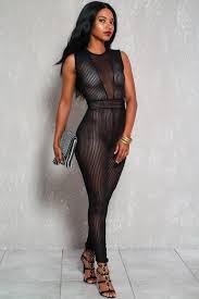 dressy jumpsuits black sheer sleeveless dressy jumpsuit