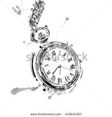 womans hand retro pocket watch vintage stock vector 546739771