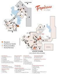 Map Of Las Vegas Strip Hotels by Tropicana Resort Casino Property Map U0026 Floor Plans Las Vegas