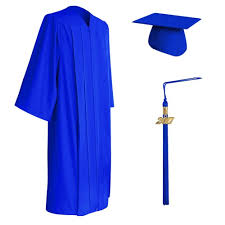 college graduation cap and gown matte royal blue graduation cap gown tassel set college