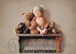 baby on the shelf newborn photography with teddy search photography